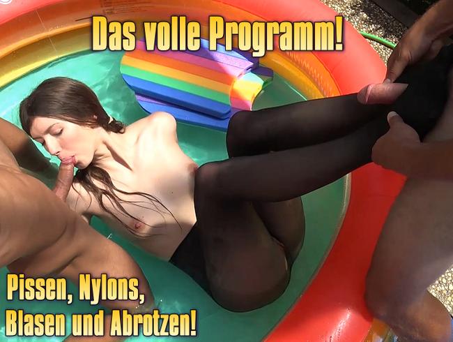 Das volle Programm! Pissen, Nylons, Blasen und Abrotzen!