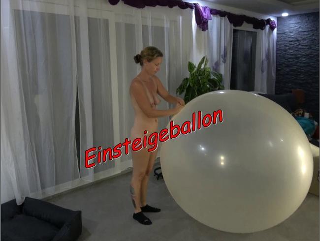 Rein in den Einsteigeballon