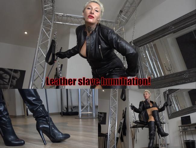 Ledersklaven-Demütigung!