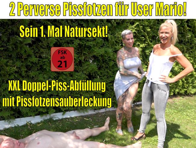 2 perverse Pissfotzen für User Mario   Sein 1. Mal Natursekt!