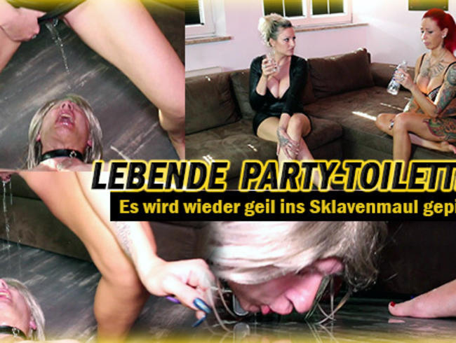 Lebende Party-Toilette 2! - Es wird wieder geil gepisst!