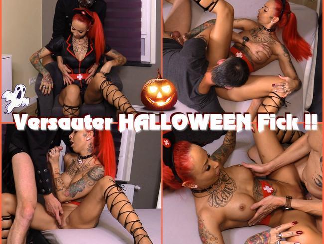 Perverser Halloween Fick !! Hart gefickt und zugekleistert !