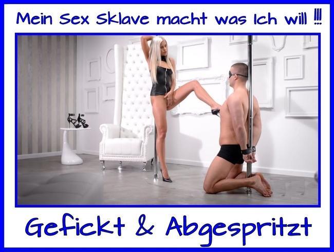Sex Sklave wird blank gefickt und gemolken!!!