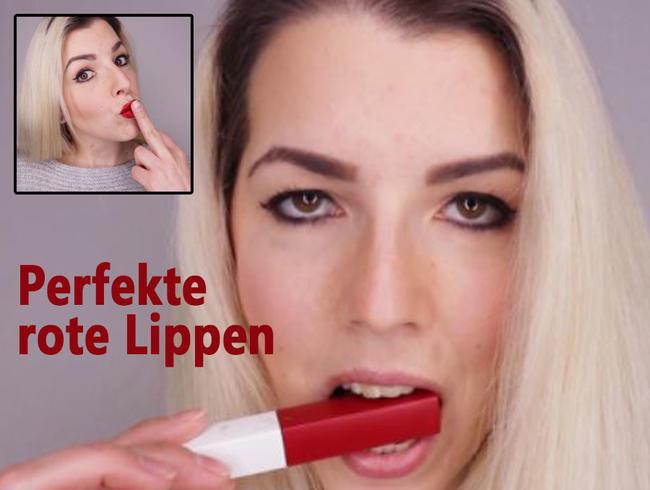 Perfekte ROTE Lippen