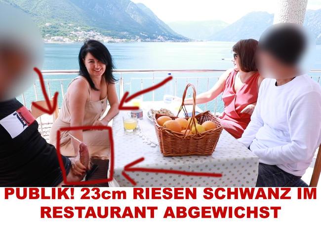 PUBLIK! 23cm RIESEN SCHWANZ IM RESTAURANT ABGEWICHST