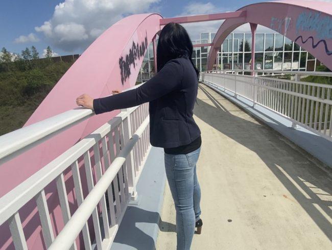 Wie Krass!! Auf der Autobahnbrücke komplett nass!